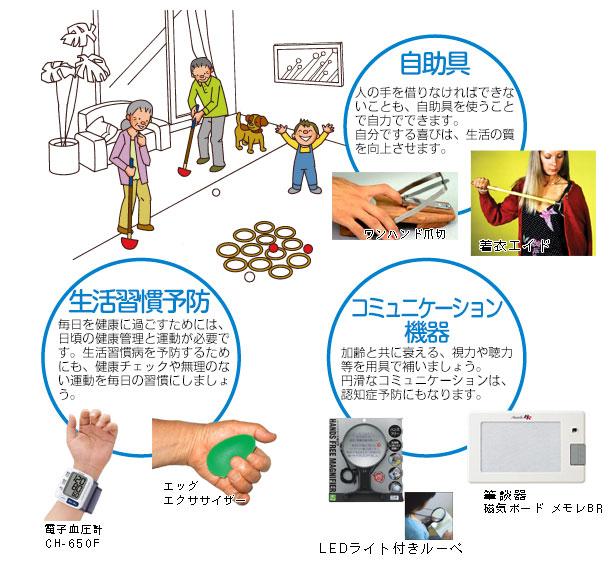 介護予防に関する介護用品